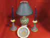 Bowl, Candlestick and Lamp
